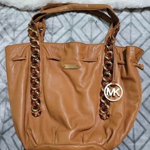 Authentic Vintage Michael Kors Brown Leather Tote